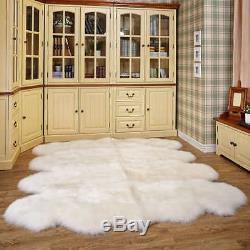 100% Natural Genuine Real Sheepskin Rug Octo Large Size approx. 6'X 7