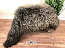 Beautiful Brown Sheepskin Rug Pelt Genuine Natural Soft Best Seat Cover Leather