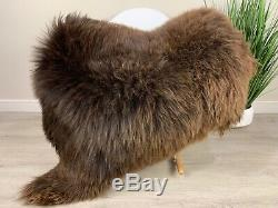 Beautiful Natural Brown Sheepskin Rug Pelt Genuine Leather Soft Best