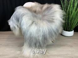 Beautiful Silver Gray Sheepskin Rug Pelt Genuine Natural Soft Best Seat Cover