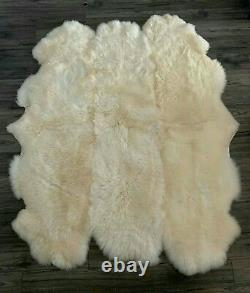 Brand New Genuine Natural Sheepskin Area Rug Thick Wool Sexto 6 Pelts 200x180