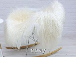Curly Sheepskin Rug Real Icelandic Mongolian Bed Chair Sofa Floor Cover MS