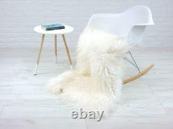 Curly Sheepskin Rug Real Icelandic Mongolian Bed Chair Sofa Floor Cover #XLMS