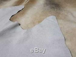 Genuine Natural Grey White Cowhide Rug 18 to 22 sq. Ft Cow Skin Gray Area Rug