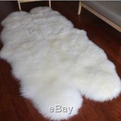 Genuine Sheepskin Rugs Area Rugs Mat Chair Sofa Seat Pads Super Size Two Pelts