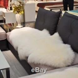 Genuine Sheepskin Rugs Area Rugs Two Pelts Mats Chair Sofa Seat Pads Cushions