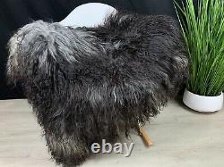 Iceland Genuine Sheepskin Rug Natural Silver Gray Fur Seat Cover Throw