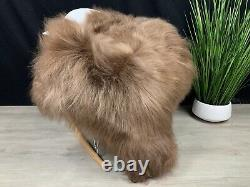 Icelandic Sheepskin Rug Pelt Genuine Natural Seat Cover Leather Pet Bed Throw