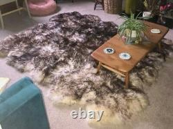 Made-to-Order Genuine Sheepskin Area Rug Muflon Thick Wool Sexto 6 Whole Pelts