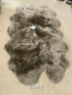 NEW RH Real Sheepskin Rug 4'x6' Dove/Taupe Color $995
