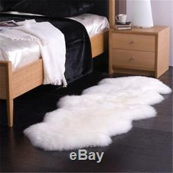 Natural 100% Genuine sheepskin rug Large Super size Thick eco pelt Pure Wool
