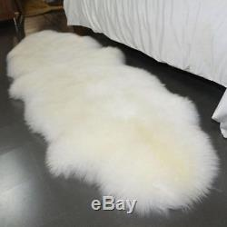 Natural Genuine Sheepskin Rug 100% Real Fur Stunning Long Wool Thicken Carpet