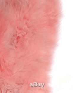 Pale Pink Genuine Large Sheepskin Rug with Extra Thick Wool / British Made /Skin