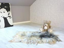 Real Icelandic Sheepskin Rug Grey Shaggy Rug Fluffy Rug Area Rug 486