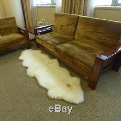 Real New Zealand Double Sheepskin Rug 2'x6' Natural Color