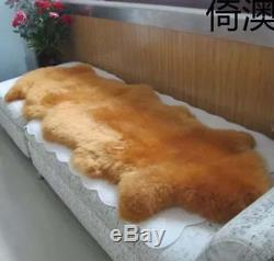 Two Pelts Genuine Sheepskin Rugs Super Large Area Rugs Mat Chair Sofa Seat Pads