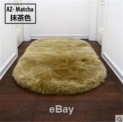 White Large 100% Genuine Imported Sheepskin Rug Fleece Thick Real Fur Rugs