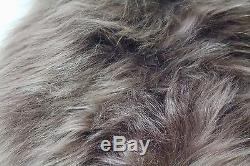 XXL Chocolate Brown Brisa Genuine Icelandic Sheepskin Long Soft Real Fur Rug